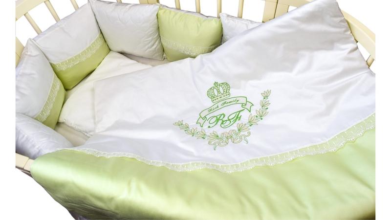 Комплект в кроватку Rich Family зелёный (6) фото (2)