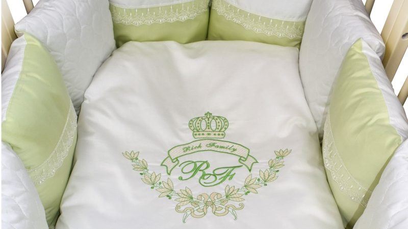 Комплект в кроватку Rich Family зелёный (6) фото (3)