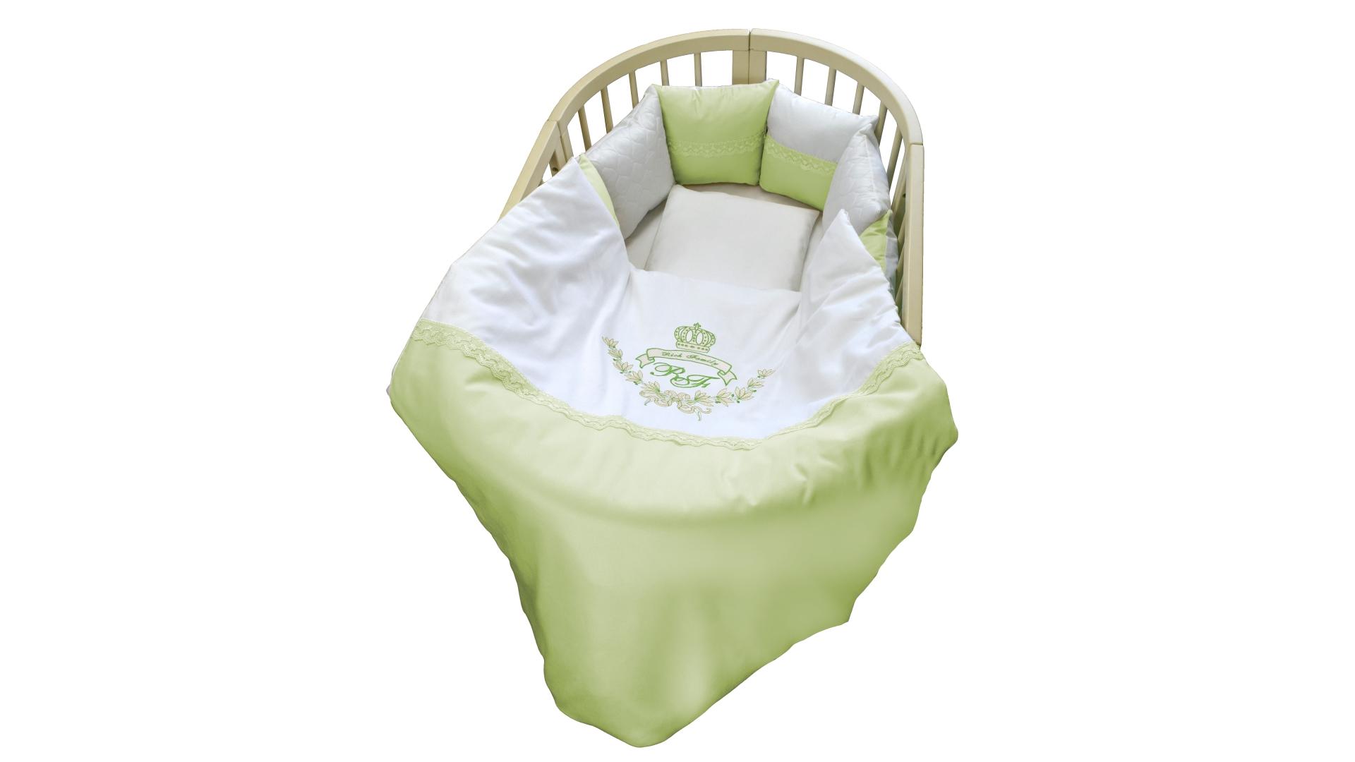 Комплект в кроватку Rich Family зелёный (6) фото FullHD (0)