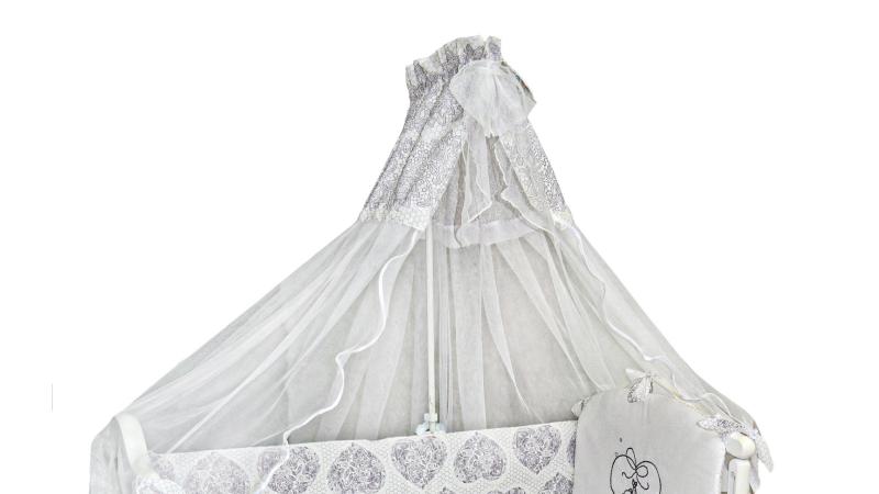 Комплект в кроватку Ажурный с вышивкой (7) фото (1)