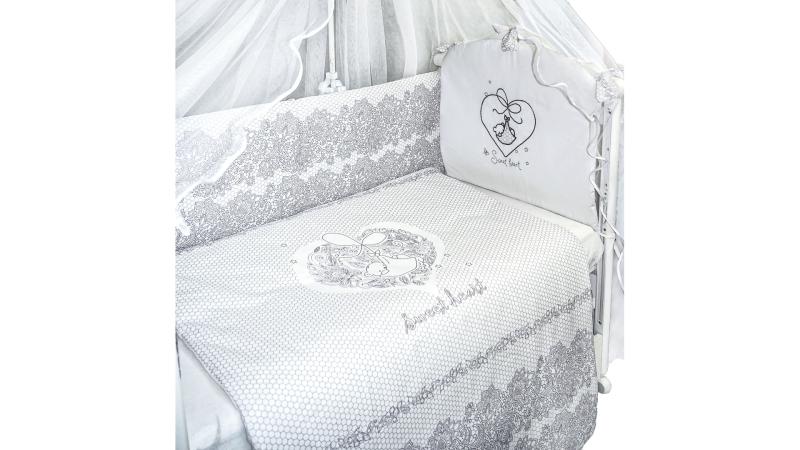 Комплект в кроватку Ажурный с вышивкой (7) фото (2)