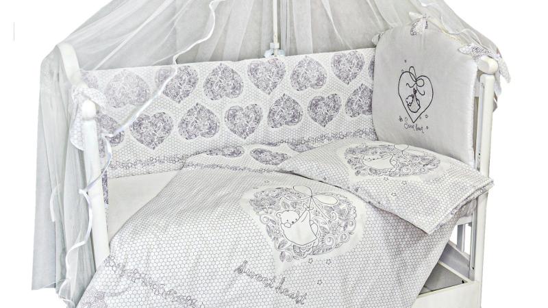 Комплект в кроватку Ажурный с вышивкой (7) фото (3)
