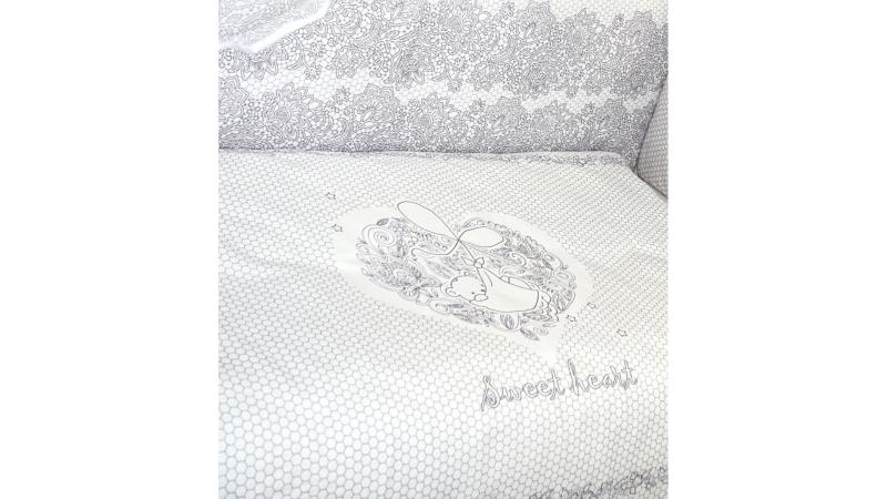Комплект в кроватку Ажурный с вышивкой (7) фото (4)