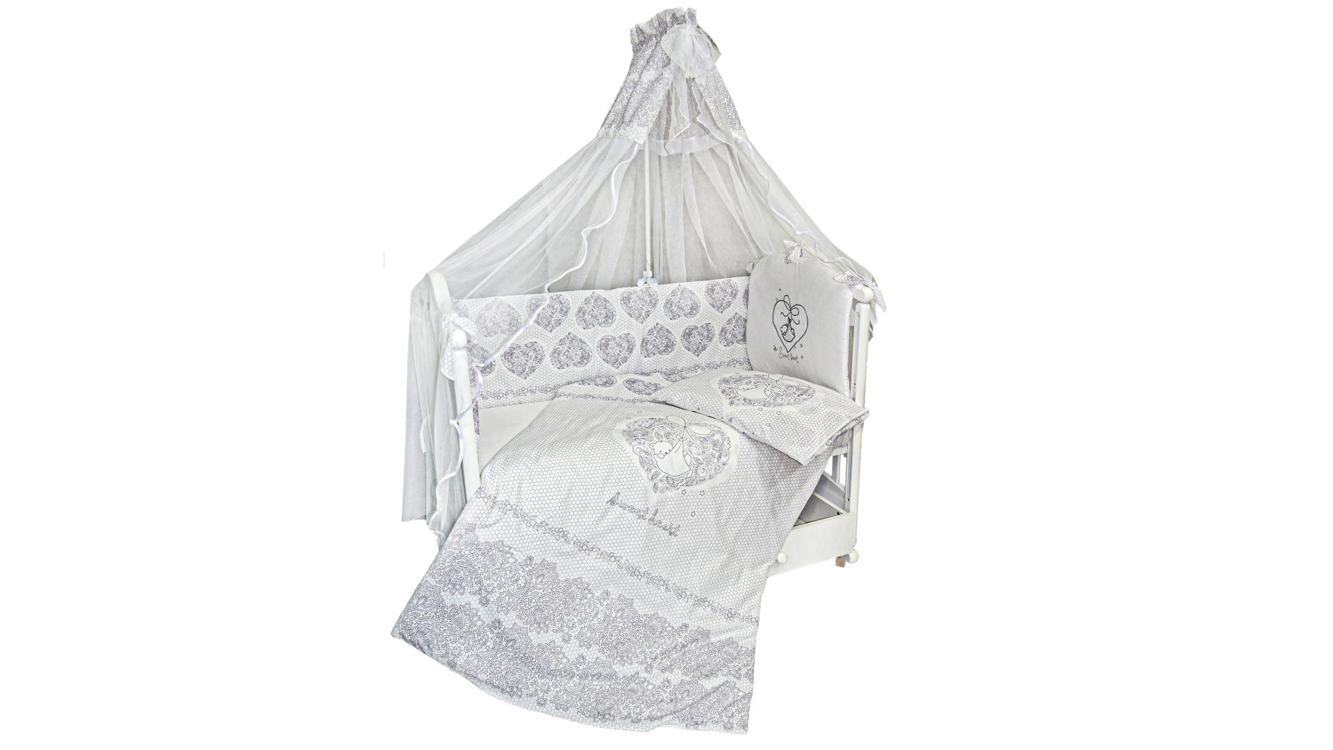 Комплект в кроватку Ажурный с вышивкой (7) фото FullHD (0)