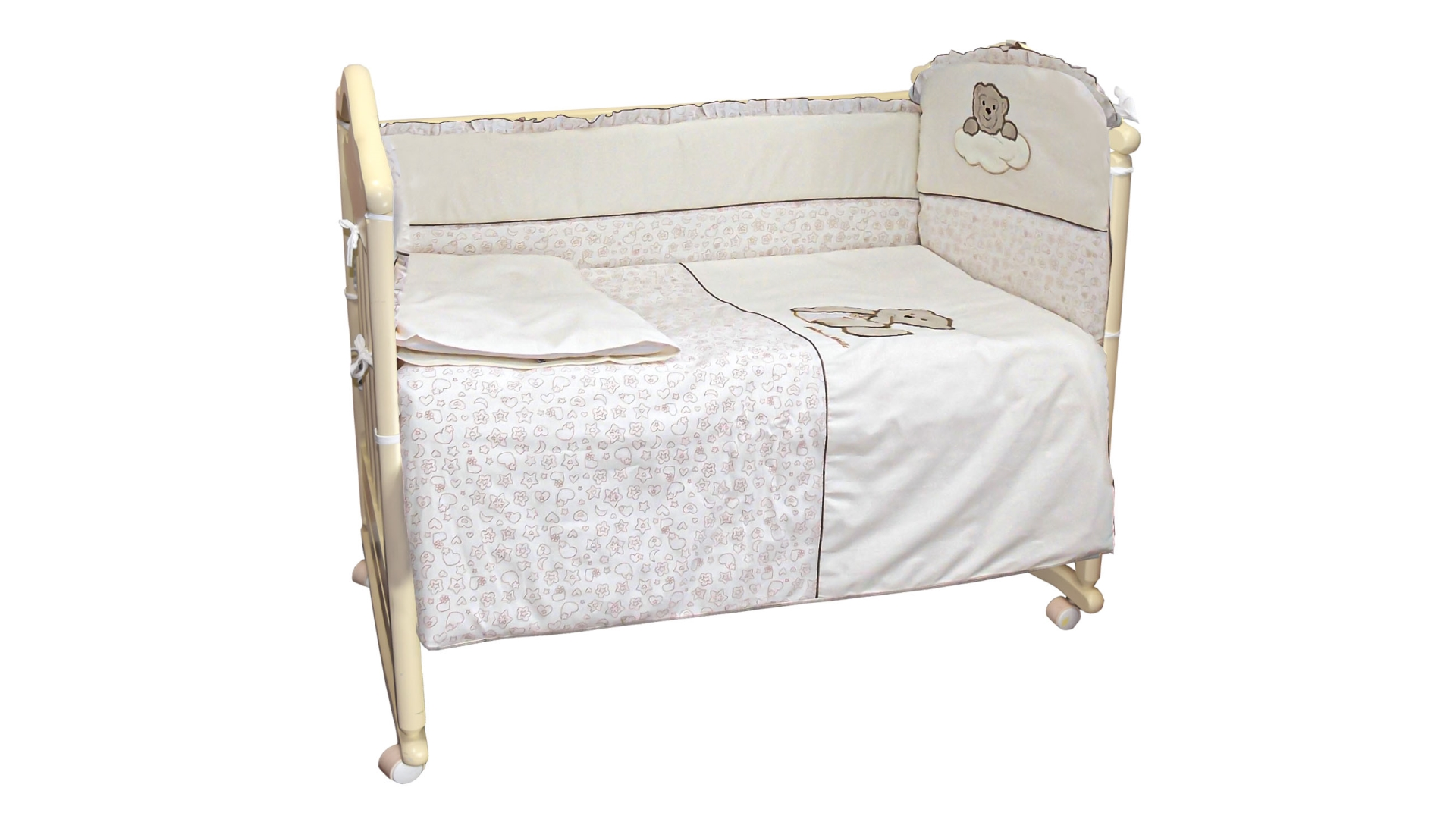 Комплект в кроватку Мишка в штанишках (6) фото FullHD (0)