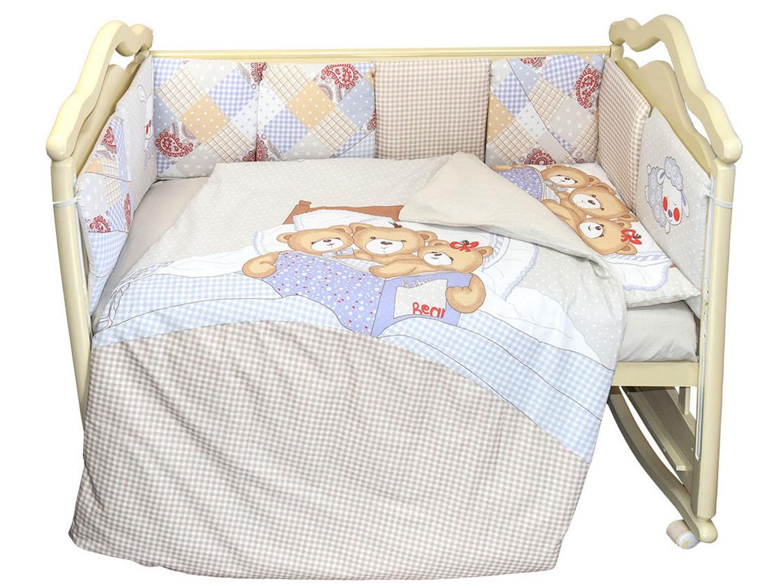 Комплект в кроватку Nice Family бежевый (4) фото FullHD (0)
