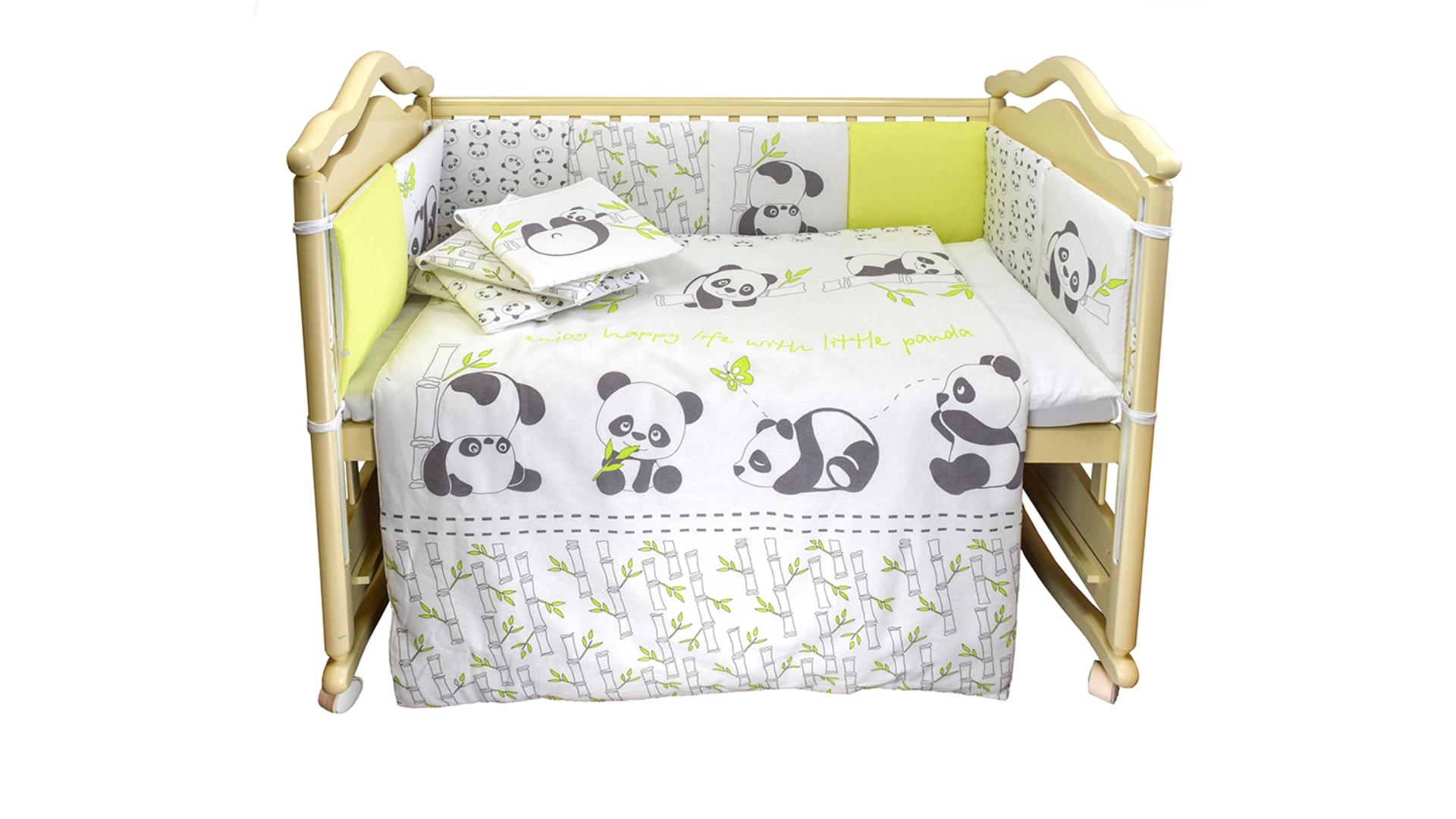 Комплект в кроватку Панды (4) фото FullHD (0)