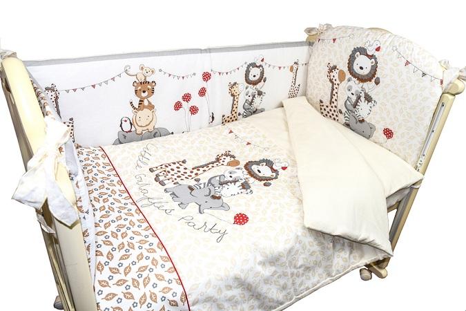 Комплект в кроватку Вечеринка маленького жирафика (4) фото (2)