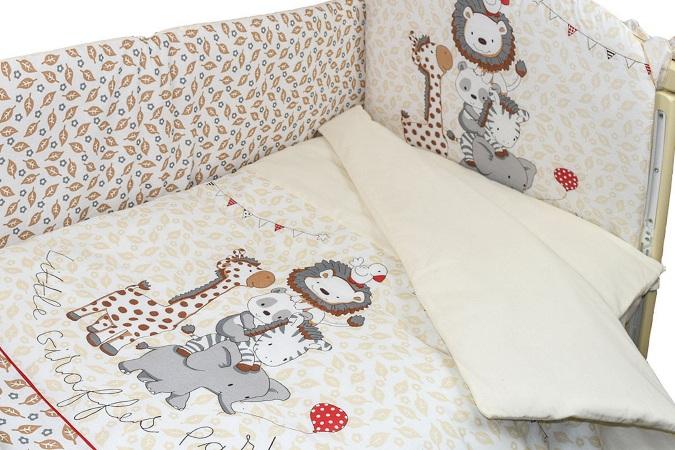 Комплект в кроватку Вечеринка маленького жирафика (4) фото (3)