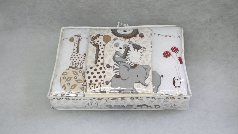 Комплект в кроватку Вечеринка маленького жирафика (4) фото (8)