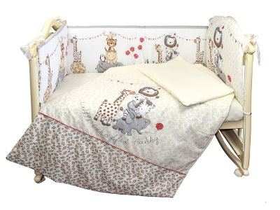 Комплект в кроватку Вечеринка маленького жирафа (6) фото