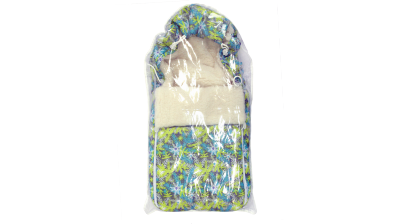 Конверт/одеяло на выписку Снежинки фото (3)