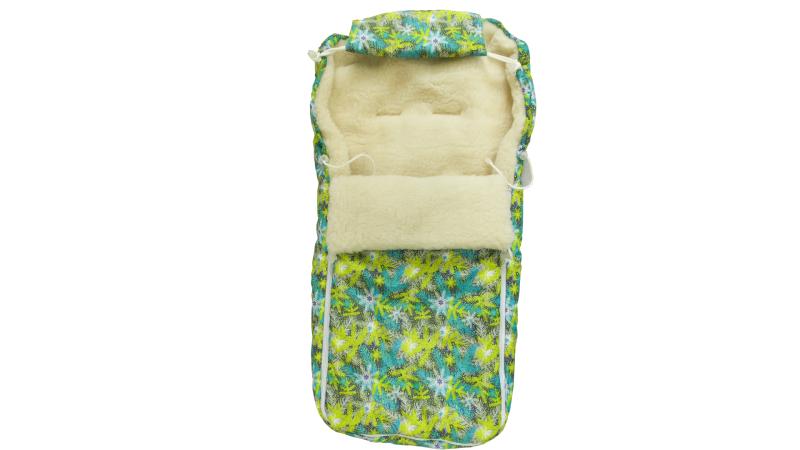 Конверт/одеяло на выписку Снежинки фото (0)