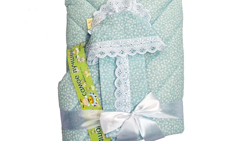 Конверт/одеяло на выписку Фунтик (голубой) фото (1)
