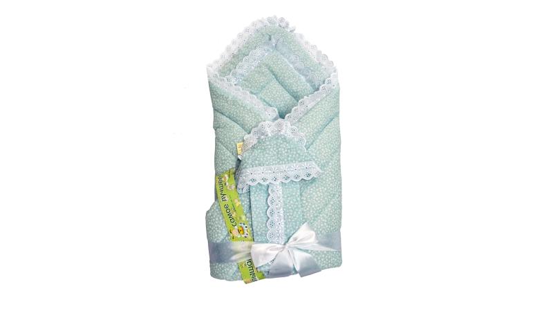 Конверт/одеяло на выписку Фунтик (голубой) фото (0)