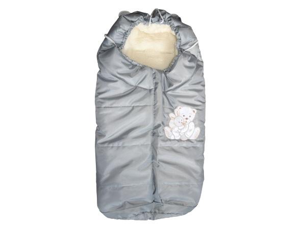 Конверт/одеяло на выписку Коломбино (светло-серый) фото (0)