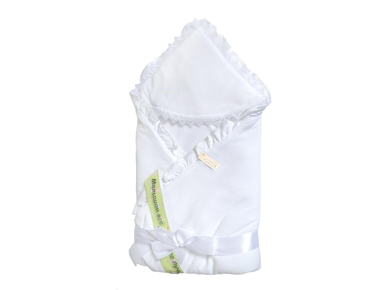 Конверт/одеяло на выписку Малютка (лето, белый) фото FullHD (0)