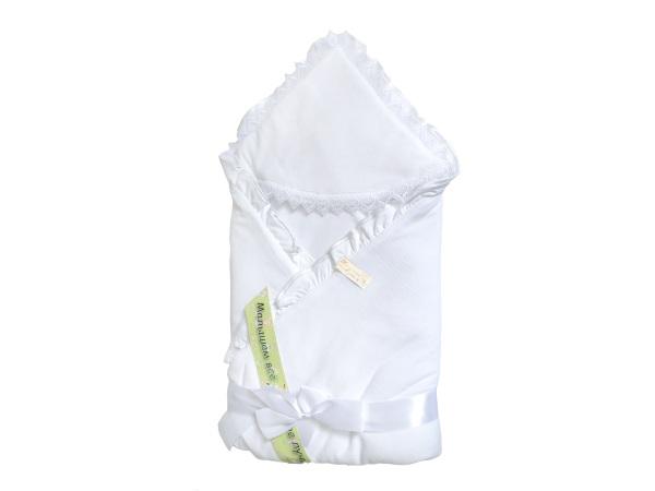 Конверт/одеяло на выписку Малютка (лето, белый) фото (0)