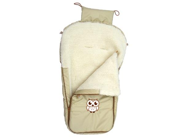 Конверт/одеяло на выписку Меховой Совёнок фото (0)