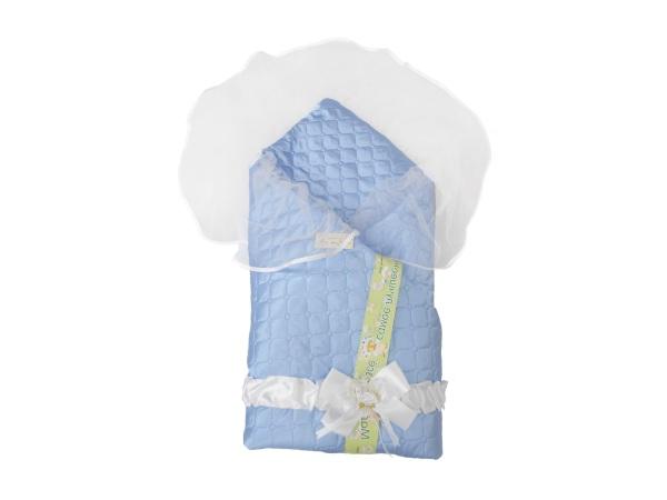 Конверт/одеяло на выписку Мила (лето, голубой) фото (0)