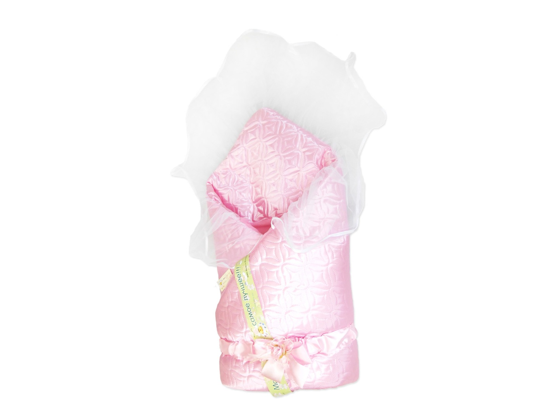 Конверт/одеяло на выписку Мила (лето, розовый) фото FullHD (0)
