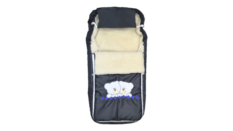 Конверт/одеяло на выписку Мишки (синие звёзды) фото (0)