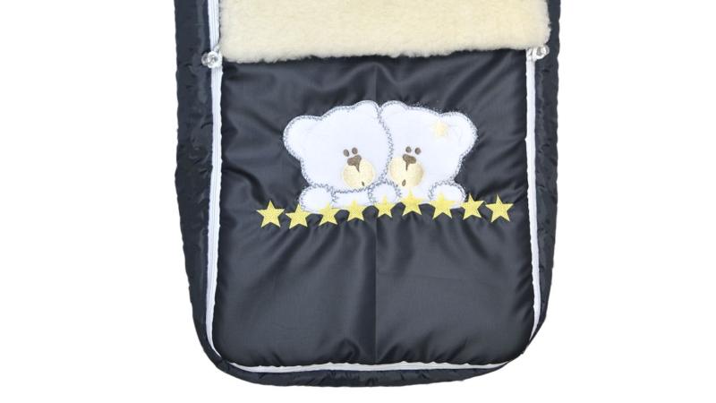 Конверт/одеяло на выписку Мишки (жёлтые звёзды) фото (2)