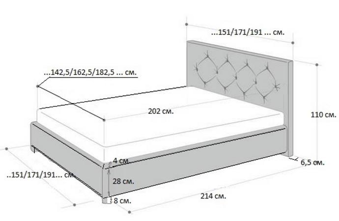 Кровать Rhone (Рона) фото (6)
