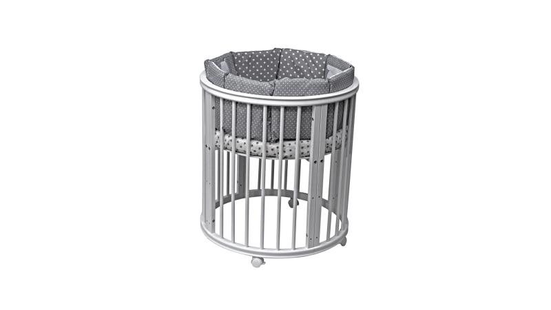 Кроватка для новорожденного Грация 8 в 1 (цв. серый) фото (2)