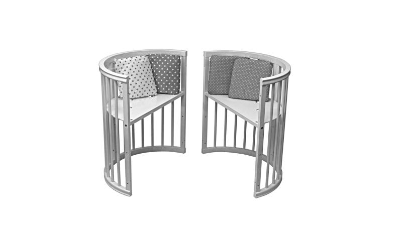 Кроватка для новорожденного Грация 8 в 1 (цв. серый) фото (3)