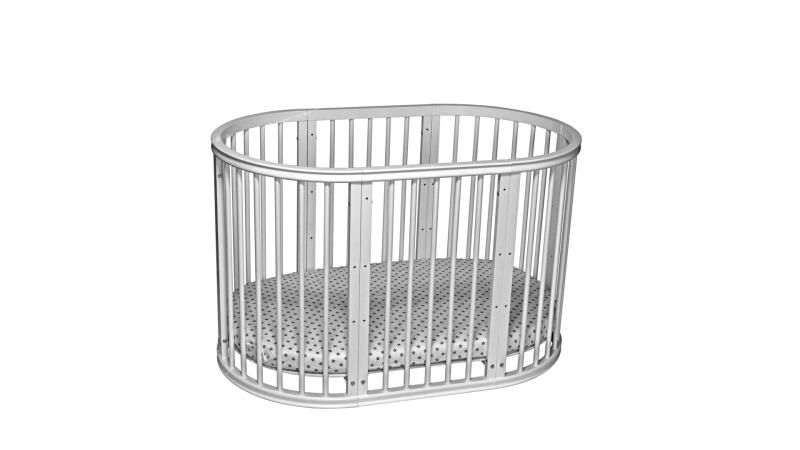Кроватка для новорожденного Грация 8 в 1 (цв. серый) фото (4)