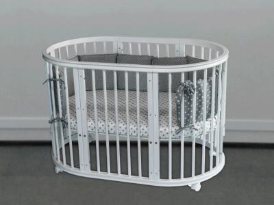 Кроватка для новорожденного Грация 8 в 1 (цв. серый) фото
