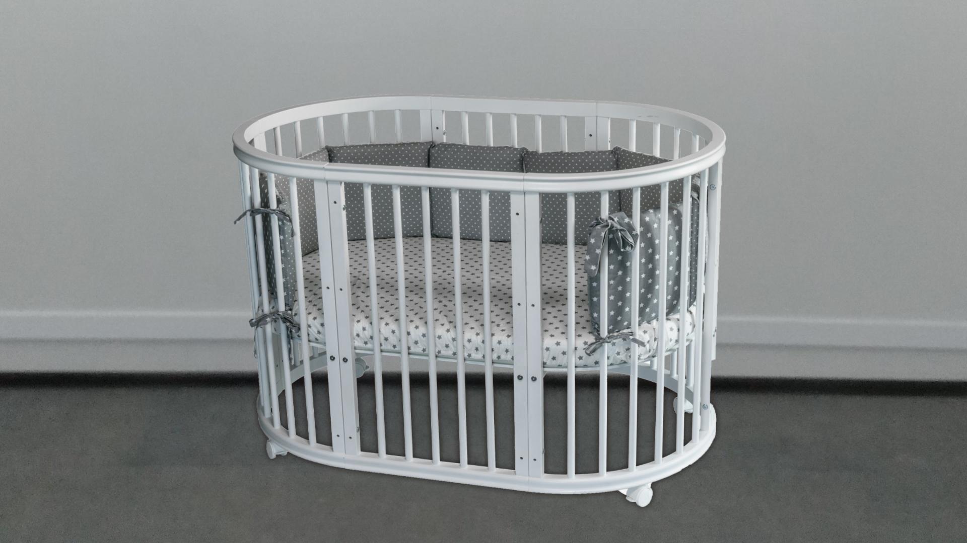 Кроватка для новорожденного Грация 8 в 1 (цв. серый) фото FullHD (0)