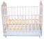 Кроватка для новорожденного Amis (маятник, ящик; цв. белый) фото мни (1)