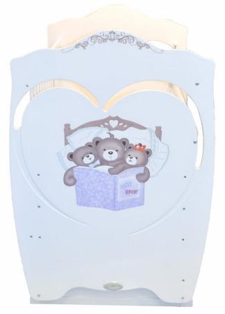 Кроватка для новорожденного Famille (маятник, ящик; цв. белый) фото (1)