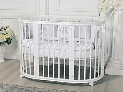 Кроватка для новорожденного Грация 8 в 1 (цв. белый) фото