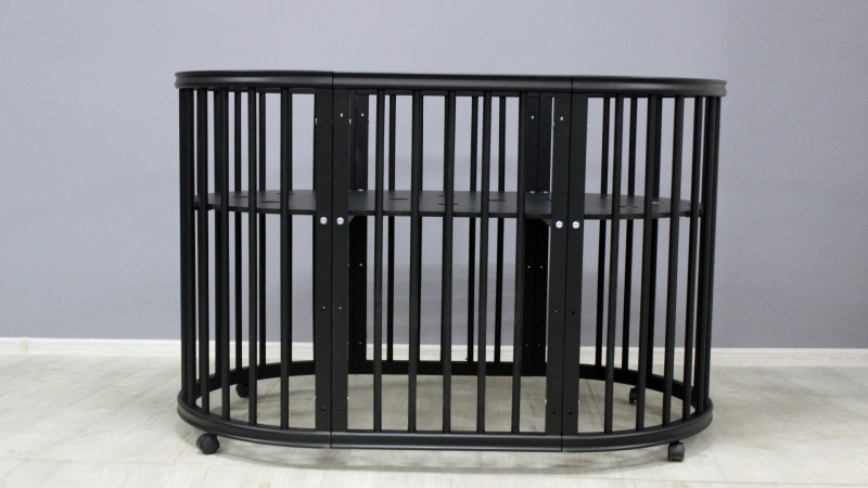 Кроватка для новорожденного Грация 8 в 1 (цв. чёрный) фото (1)