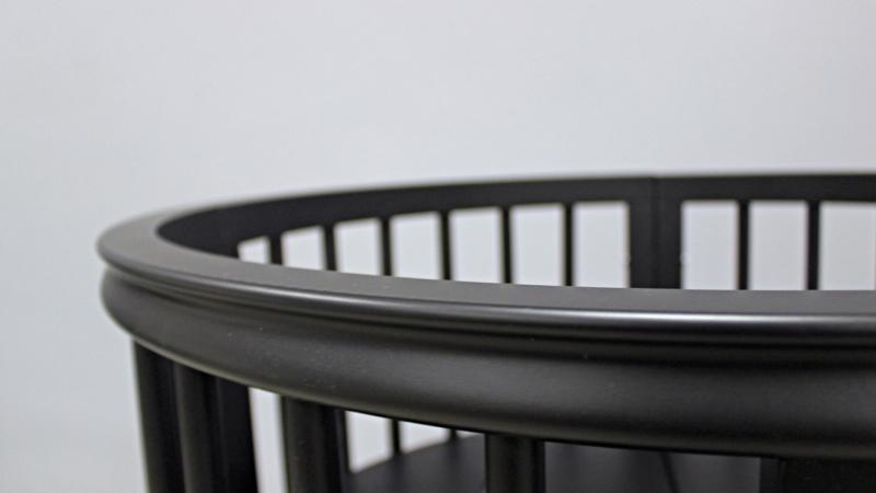 Кроватка для новорожденного Грация 8 в 1 (цв. чёрный) фото (2)