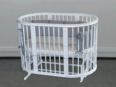 Кроватка для новорожденного Грация 8 в 1 (маятник; цв. белый) фото