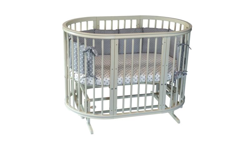 Кроватка для новорожденного Грация 8 в 1 (маятник; цв. слон.кость) фото (1)