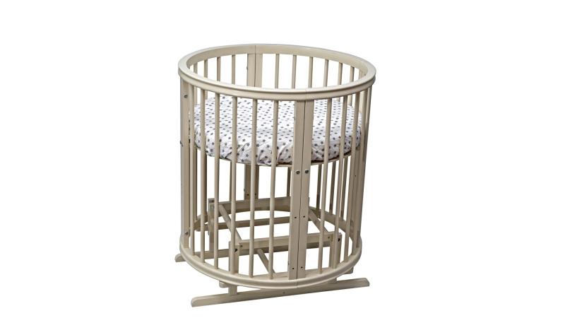 Кроватка для новорожденного Грация 8 в 1 (маятник; цв. слон.кость) фото (2)