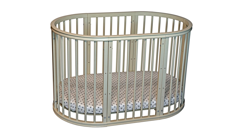 Кроватка для новорожденного Грация 8 в 1 (маятник; цв. слон.кость) фото (3)