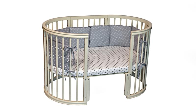 Кроватка для новорожденного Грация 8 в 1 (маятник; цв. слон.кость) фото (4)