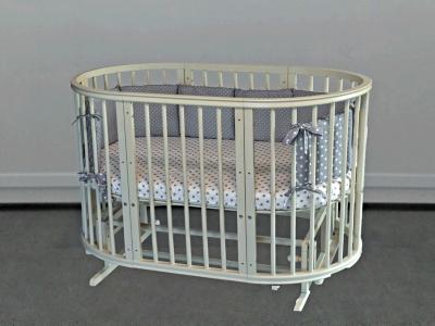 Кроватка для новорожденного Грация 8 в 1 (маятник; цв. слон.кость) фото