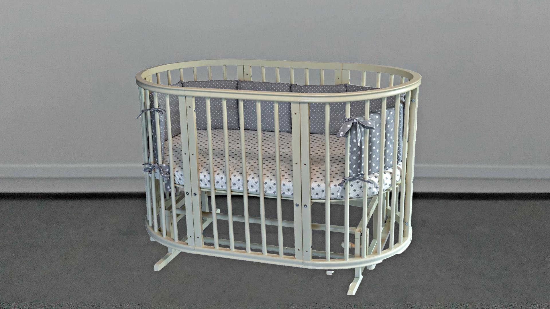 Кроватка для новорожденного Грация 8 в 1 (маятник; цв. слон.кость) фото FullHD (0)
