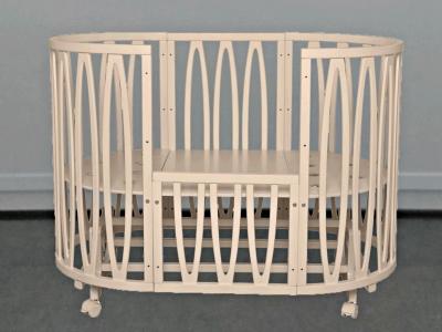 Кроватка для новорожденного Лилу 10 в 1 (маятник; цв. слон.кость) фото