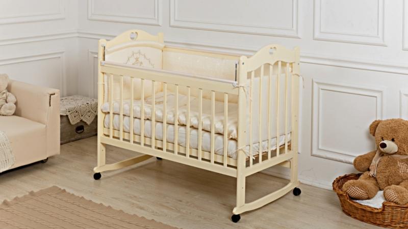 Кроватка для новорожденного Милана (качалка; цв. слон.кость) фото (1)