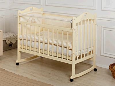Кроватка для новорожденного Милана (качалка) слон. кость фото