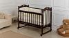 Кроватка для новорожденного Милана (качалка; цв. венге) фото мни (1)