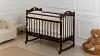 Кроватка для новорожденного Милана (качалка; цв. венге) фото мни (0)